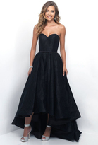 Blush Lingerie Lace Strapless Sweetheart High-Low Gown 5628