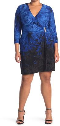 Calvin Klein Surplice Faux Wrap Dress