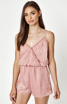 KENDALL + KYLIE Kendall & Kylie Surplice Embroidered Romper