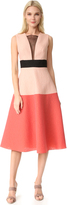 Lela Rose Colorblock Dress