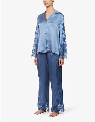 Nk Imode Dovima Opulant floral-embroidered silk pyjama set