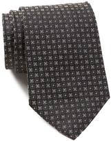 HUGO BOSS Floral Pattern Silk Tie