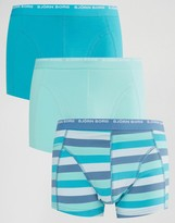 Bjorn Borg 3 Pack Trunks In Grid Print
