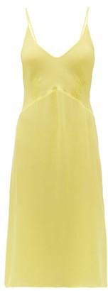 Araks Cadel Silk-crepe Slip Dress - Womens - Yellow