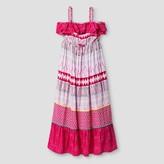 Cat & Jack Girls' Sleeveless Print Maxi Dress Cat & Jack - Pink