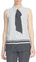 CeCe Printed Sleeveless Shirt