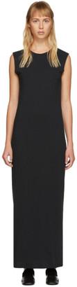 Raquel Allegra Black Muscle Maxi Dress