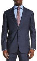 Armani Collezioni G-Line Melange Two-Piece Wool Suit, High Blue