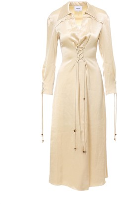 Nanushka Akita Waist-Tie Dress