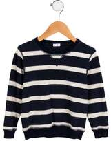 Il Gufo Boys' Striped Long Sleeve Sweatshirt