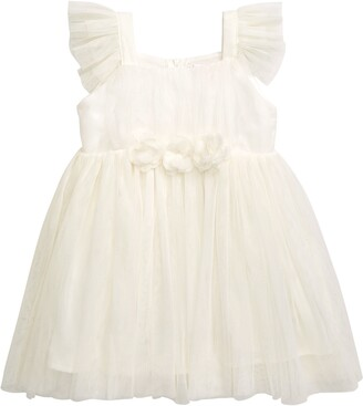 Popatu Flutter Sleeve Tulle Dress