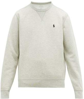 Polo Ralph Lauren Logo Embroidered Technical Sweatshirt - Mens - Grey