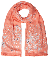 White Stuff Painted With Love Scarf, Neon Orange