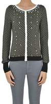 Patrizia Pepe Women's White/black Cotton Cardigan.