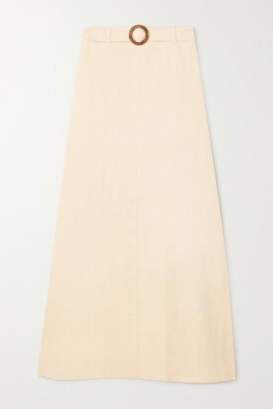 Faithfull The Brand Net Sustain Devon Belted Linen Maxi Skirt