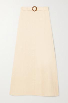 Faithfull The Brand + Net Sustain Devon Belted Linen Maxi Skirt - Sand