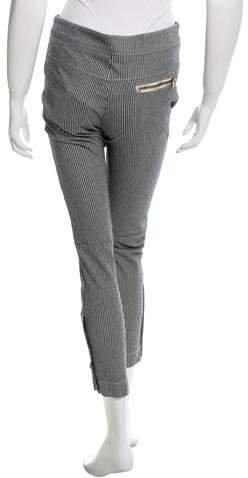 Chloé Striped Straight-Leg Jeans w/ Tags