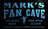 AdvPro Name th014-b Mark's Football Fan Cave Man Room Bar Beer Neon Light Sign