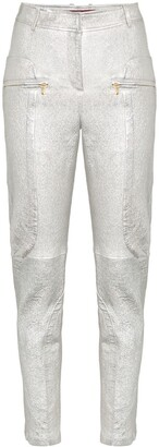 Sies Marjan Brin Slim Fit Leather Trousers