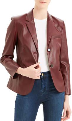 Theory Classic Leather Shrunken Jacket