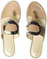 Frances Valentine Women's Noel Flat Sandal Light tan 6.5 B US