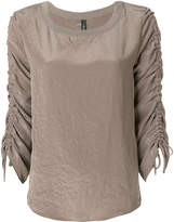 Marc Cain ruched sleeve jumper