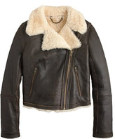 J.Crew Collection shearling aviator jacket