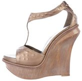 Salvatore Ferragamo T-Strap Wedge Sandals