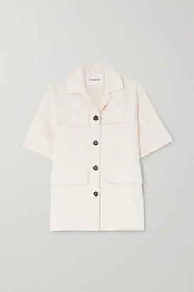 Jil Sander Silk, Ramie And Hemp-blend Canvas Shirt - Off-white