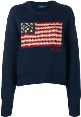 Polo Ralph Lauren flag knit slouchy sweater