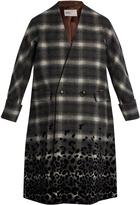 Kolor Checked wool-blend coat