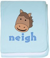 CafePress - Animal Noises - Horse Neigh - Baby Blanket, Super Soft Newborn Swaddle