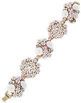 Betsey Johnson Flower Cluster Line Bracelet