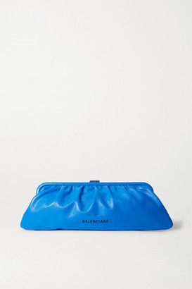 Balenciaga Cloud Large Printed Textured-leather Clutch - Blue