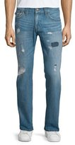 True Religion Geno Triple-Needle Distressed Denim Jeans, Main Stage