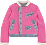 DSQUARED2 Cotton twill and contrast denim jacket - Pink