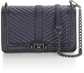 Rebecca Minkoff Chevron Quilted Chain Love Crossbody Bag