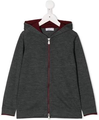 Brunello Cucinelli Kids zip-front hoodie