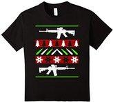 Kids AR-15 Rifle Machine Gun Ugly Christmas Sweater Shirt 6