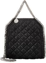 Stella McCartney Women's Falabella Shaggy Deer Tiny Tote-BLACK