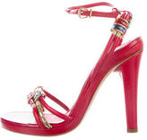 Marc Jacobs Leather Bead-Accented Sandals