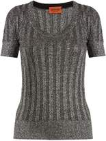 Missoni Scoop-neck ribbed-knit top