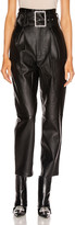 GRLFRND Beatrice High Waist Leather Pant in Black | FWRD