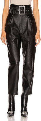 GRLFRND Beatrice High Waist Leather Pant in Black | FWRD