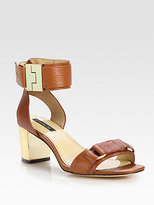 Rachel Zoe Madeline Leather Ankle Strap Sandals