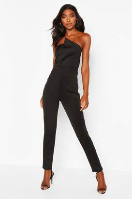 boohoo Tall Bandeau Wrap Detail Jumpsuit