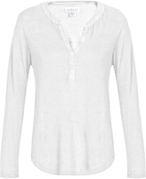 Velvet by Graham & Spencer Elvira linen-blend T-shirt