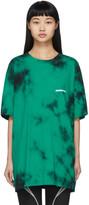 Off-White Off White Green Tie-Dye Modern T-Shirt
