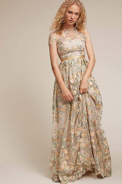 Anthropologie Fontana Wedding Guest Dress