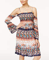 American Rag Juniors' Printed Cold-Shoulder Dress, Only at Macy's